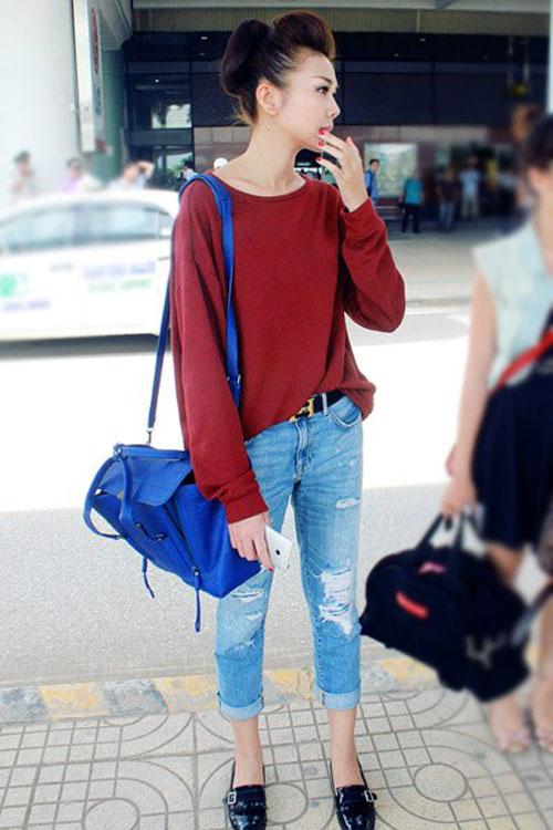 Ngọc Trinh, Thanh Hằng hoàn hảo ở sân bay-14