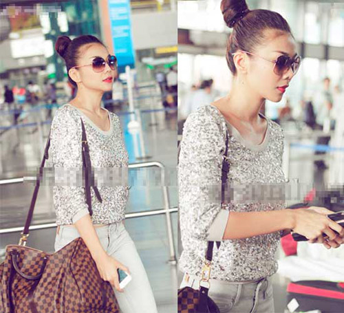 Ngọc Trinh, Thanh Hằng hoàn hảo ở sân bay-12
