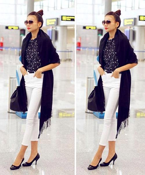Ngọc Trinh, Thanh Hằng hoàn hảo ở sân bay-7