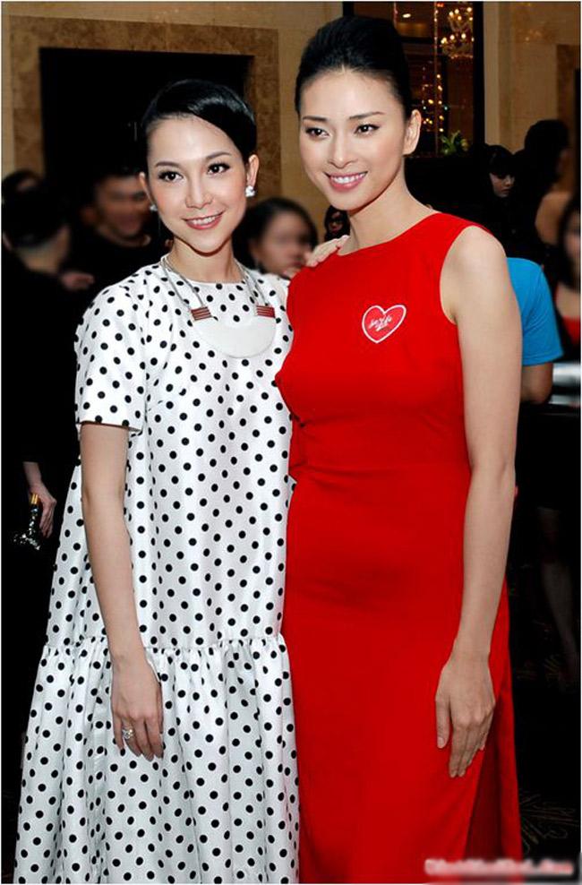 Linh Nga rất có duyên chụp ảnh cùng Ngô Thanh Vân.