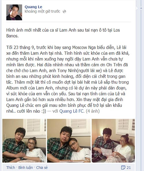 quang le hat cung lam anh tren giuong benh - 1