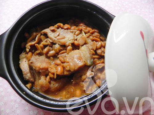 thuc don: thit kho tuong, canh suon ham - 1