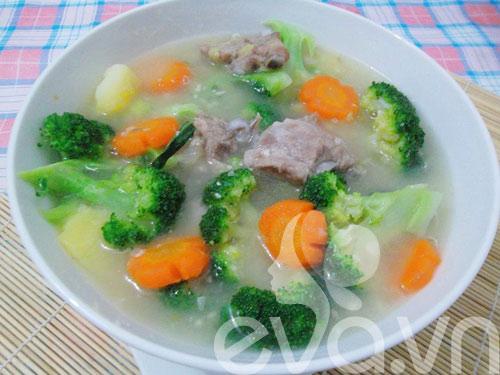 thuc don: thit kho tuong, canh suon ham - 2