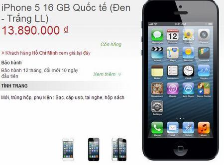 """giam 4 trieu dong, iphone 5c xach tay van e """"chong gong"""" - 2"""