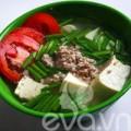 Bếp Eva - 3 bước cho canh đậu thịt nấu hẹ