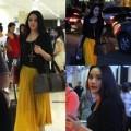"""Làng sao - Bắt gặp Trang Nhung """"lẻ bóng"""" ngoài sân bay"""
