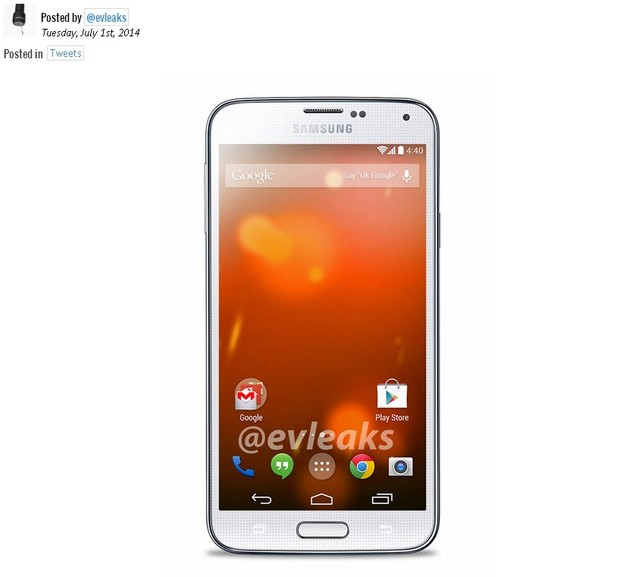 galaxy s5 google play edition tiep tuc lo dien - 1
