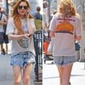 """Làng sao - Eva """"soi"""" 3/7: Lindsay Lohan tả tơi trên phố"""