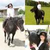 Làng sao - Lan Phương trải nghiệm cảm giác cưỡi ngựa ở Đức