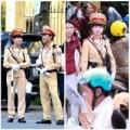 Tin tức - Nữ cảnh sát giao thông xinh đẹp đứng chốt dịp thi ĐH