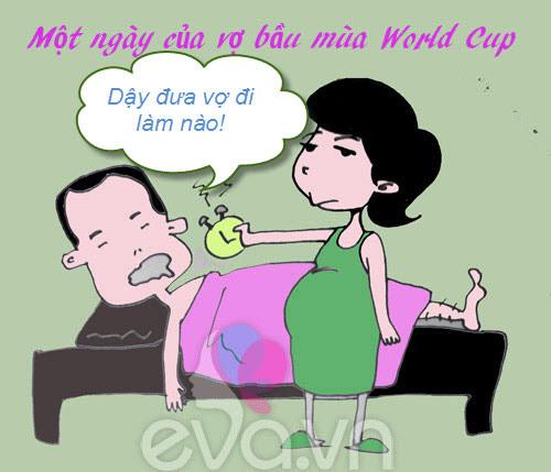 mot ngay cua me bau mua world cup - 1