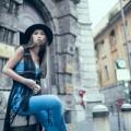 Thời trang - Quỳnh Thy thả dáng sành điệu trên phố Milan