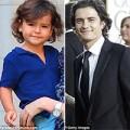Làng sao - Nhóc Flynn giống y hệt bố Orlando Bloom