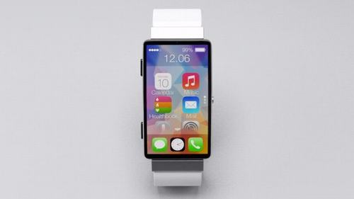 apple iwatch chay ios 8, man hinh cong - 1