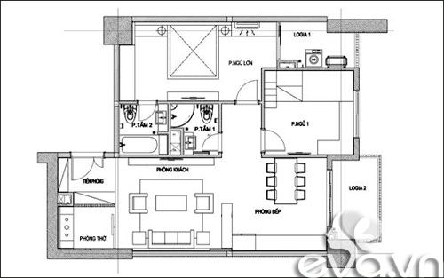 Hoàn thiện nội thất nhà 98m2 với 400 triệu đồng-1
