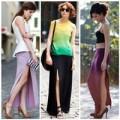 Thời trang - Khoe chân duyên dáng cùng váy xẻ tà