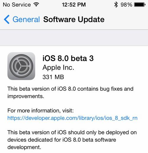 apple cung luc phat hanh ios 8 beta 3 va os x yosemite beta 3 - 1