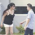 Cindy Thái Tài xô xát với bạn trai trên phố
