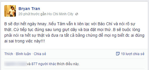 "the bao: ""tam hay noi ro su that voi bao chi"" - 2"