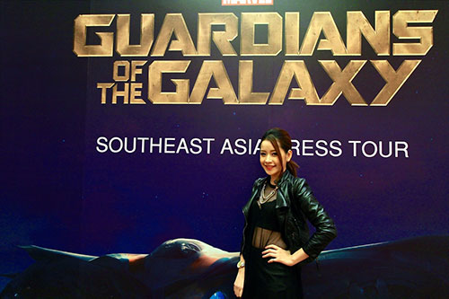 "chi pu bat ngo du hop bao ""guardians of the galaxy"" - 4"