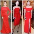 Thời trang - Sao Việt khoe dáng trong váy đỏ nồng nàn