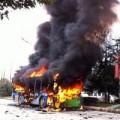 Tin tức - TQ: Tưới xăng đốt xe bus để được ăn cơm tù miễn phí