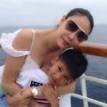 Làng sao - Hà Kiều Anh gợi cảm bên chồng con ở Mexico