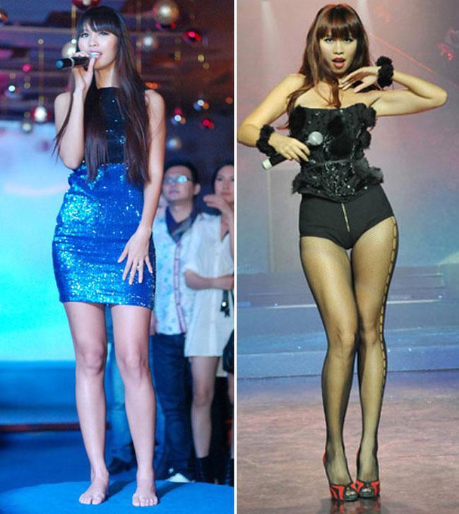 Đôi chân dài của siêu mẫu Hà Anh trở nên quyền lực hơn hẳn nhờ đôi giày cao gót 12cm.