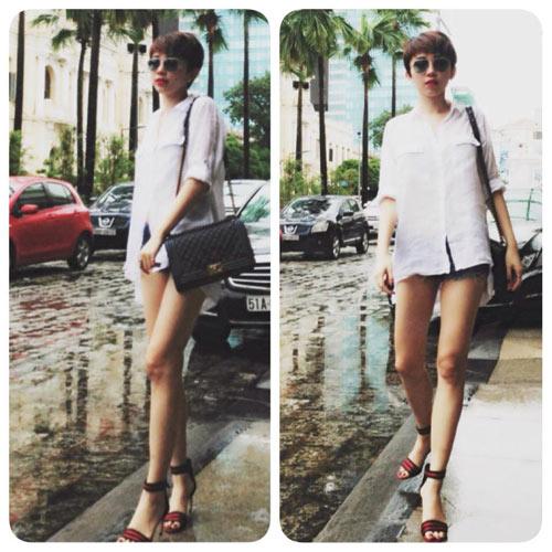 tuan qua: sao viet khoe chan thon, eo phang - 3