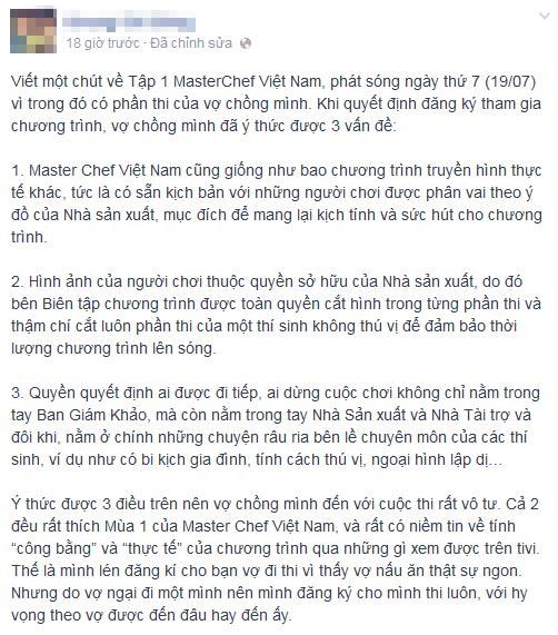 """btc masterchef """"dap tat"""" tinh yeu nau nuong? - 2"""