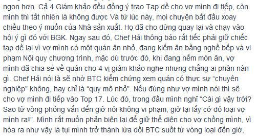 """btc masterchef """"dap tat"""" tinh yeu nau nuong? - 4"""