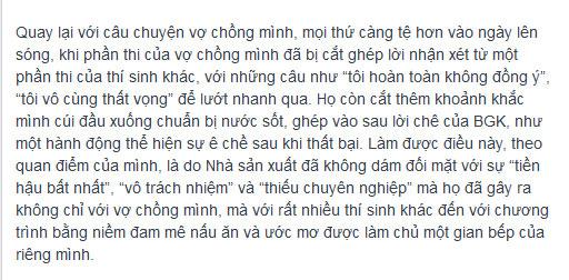 """btc masterchef """"dap tat"""" tinh yeu nau nuong? - 7"""