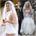 """Thời trang - """"Ngã ngửa"""" trước những bộ váy cưới thảm họa"""