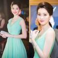 Thời trang - HH Thu Thảo tỏa sáng với đầm xanh bạc hà