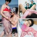 Bà bầu - Gặp ông bố Việt chụp ảnh vợ đẻ gây 'sốt'