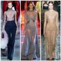 Thời trang - Các thiết kế khoe ngực từ sàn diễn thu đông 2014
