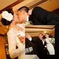 Làng sao - Vợ chồng Kim Hiền hôn nhau lãng mạn trong ngày cưới