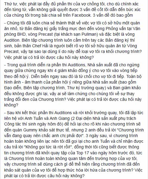 masterchef vietnam: btc phot lo loi xin loi? - 5