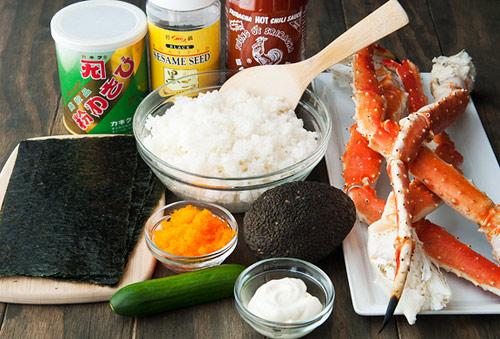 tu lam sushi hinh oc que thom ngon - 2