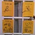 Làm mẹ - Học mẹ Mỹ tạo bảng nhắc việc con cực hay