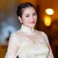 Làng sao - Lý Nhã Kỳ đẹp nền nã với áo dài tại Hà Nội