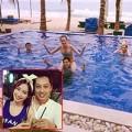 Làng sao - Trúc Diễm diện bikini tinh nghịch ngồi lên vai bạn trai