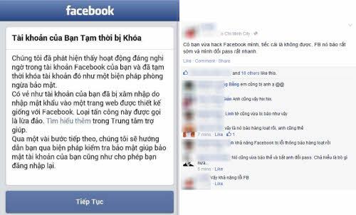 hang loat facebooker 'dung hinh' vi thong bao khoa tai khoan - 1