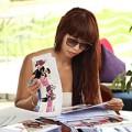 Làng sao - Hà Anh lộ mặt mộc khi chấm thi Elite Model Look