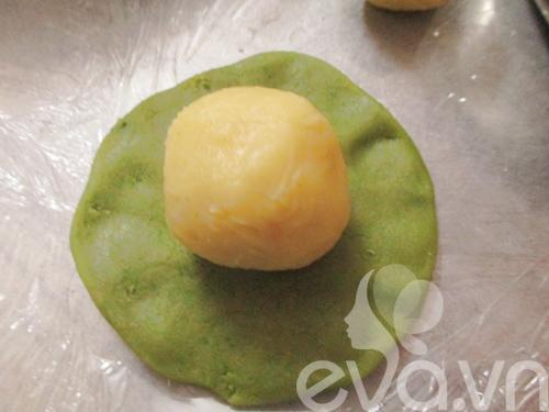 Bánh Trung thu trà xanh nhân đậu xanh - 8