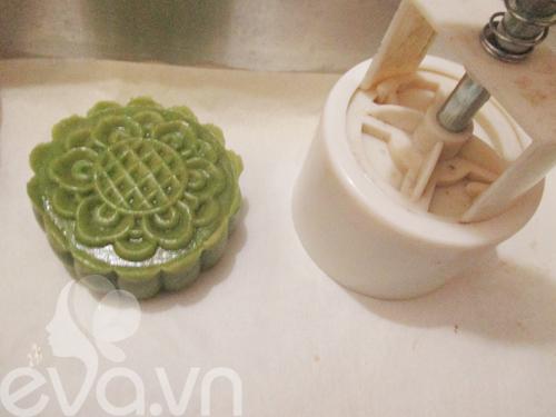 Bánh Trung thu trà xanh nhân đậu xanh - 9