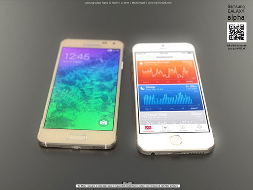 iphone 6 va galaxy alpha vien kim loai do thiet ke - 1
