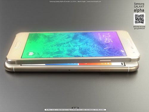 iphone 6 va galaxy alpha vien kim loai do thiet ke - 4