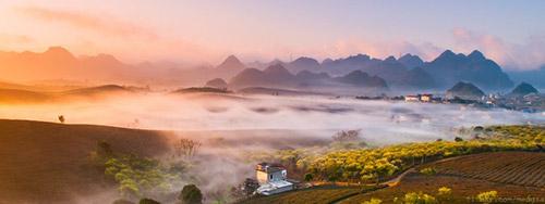 Vẻ đẹp mê hoặc của Mộc Châu trong sương sớm - 7