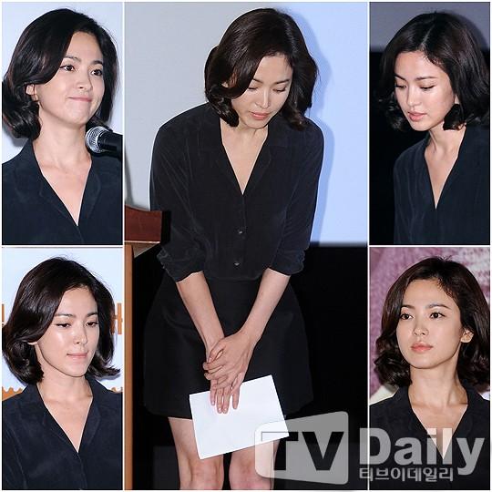 song hye kyo lan dau xuat hien sau scandal tron thue - 1